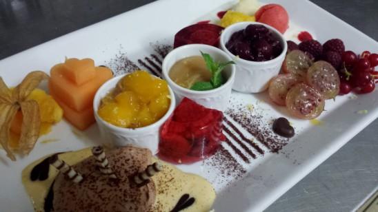 Dessert-Variation – Goldner Engel –